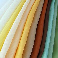 "Plain Woven Voile Net Curtain Fabric - 150CM / 58"" Wide - Various Lengths"