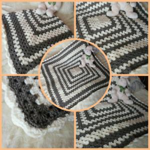 Large handmade crochet blanket for dog, blanket for cats, pet blanket handmade