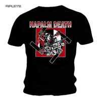 Official T Shirt NAPALM DEATH Black Death Metal NAZI Punks All Sizes