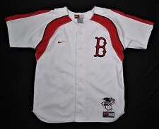 e072bcd925a BOSTON RED SOX ~ 100% Polyester Baseball jersey ~ Youth Boys Medium - White