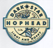 Beer pump clip front. Dark Star Brewing Co, HOPHEAD, Light & Hoppy