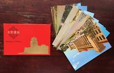 8 China Mao Revolution  Period Buildings Of Peking post cards