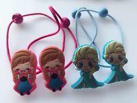 2PAIR Girl Disney Frozen Elsa Anna Princess hair accessory Ponytail elastic tie