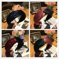 Women's Yoga Tie Hairband Knot Twist Headband Fabric Hair Hoop Band Accessories