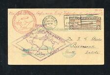 Zeppelin Sieger 64B 1930 South America flight to North Dakota. Rare.