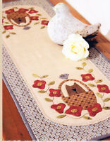 SALE - PATTERN - Sweet Pea Tablerunner - pretty applique PATTERN - The Birdhouse