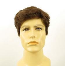 Perruque homme 100% cheveux naturel châtain clair ref DAVID 8