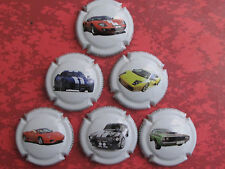 Série de  6. capsules champagne  BRUNO ARMAND (voitures sport)