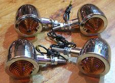 4 clignotant clignoteur moto chrome custom bobber chopper bullet markerlight 4pc