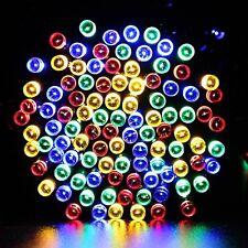 50 Led Multi Coloured String Solar Powered Fairy Lights Garden Party Xmas RGB