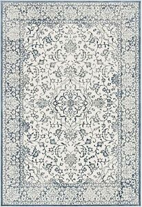 Transitional NOBLE Blue and Ivory Area Rug 100cm x 140cm Safavieh
