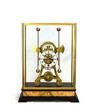 8 Day Gold Unique Grasshopper Escapement Fusee Driven Double Pendulum Sea Clock