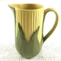 Shawnee Pottery #71 Pitcher Corn King 9in High Vintage Green Yellow Ear of Corn