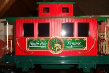 "EZTEC - SCIENTIFIC TOYS ""G"" NORTH POLE EXPRESS HOLIDAY CABOOSE W/LIGHTS SALE"