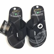 NWT Guinness 1759 Men's Size Small 7/8 Dulin Ireland Black Flip Flops O13