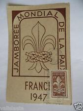 CARTE POSTALE SCOUT SCOUTISME JAMBOREE 1947 FRANCE