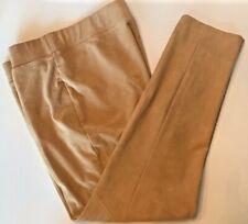"""ZENERGY CHICO'S """"Pants  Look/Feel of Suede Lt Camel Tan Beige Khaki Sz 1 (S - 8)"""