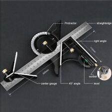 Carpenter Straight Ruler Tri Square Angle Finder & Level Tool Adjustable Measure