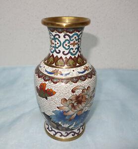 Cloisonne Vase aus China, wunderschönes Designmit Schmetterling