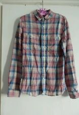 Womens  ASOS Checked Linen Cotton Shirt Size M