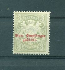 GRMANIA ANTICHI STATI - GERMANY STATES  Bavaria 1876 Mi. 4 3Pf Postage Due