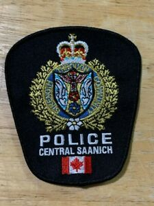 Central Saanich British Columbia BC Canada Police patch