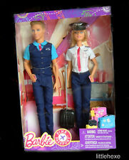 Barbie &  Ken Piloten Set Pilot, Pilotin Pink Passport FNY33 NEU/OVP