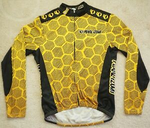 VINTAGE MEN'S PEARL IZUMI KING BEE LONG SLEEVE BIKE CYCLING JERSEY SZ M MADE USA