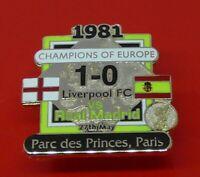 Danbury Mint Pin Badge Liverpool Football Club v Real Madrid Champions Of Europe