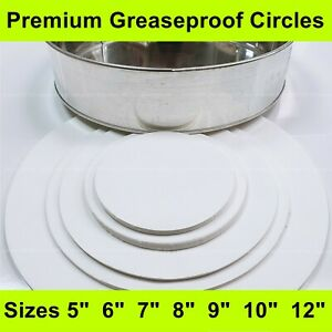 """Greaseproof Circles-5"""", 6"""", 7"""", 8"""", 9"""", 10"""", 12""""- Round Baking Paper Tin Liners"""