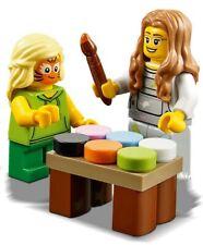 LEGO Fun Fair Face Painting Stand & 2 Minifigures Train Scenery 60197 60198