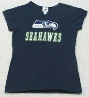 NFL Seattle Seahawks Blue T-Shirt Graphic Tee Short Sleeve Cotton Size Medium