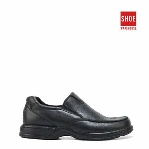 Hush Puppies SAWYER II Black Mens Slip-on Casual Leather Shoes