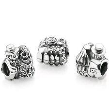 pandora silver bride & groom charm ALE S925