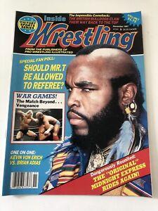 Inside Wrestling Magazine November 1987 Mr T Cover WWF Kevin Von Erich