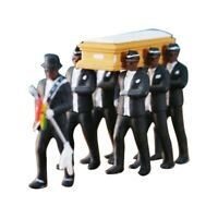 1/64 Ghana Funeral Coffin Dancing Pallbearer Team Model Figure Gift Decor New
