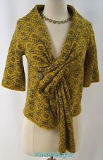 MOTH ANTHROPOLOGIE Cardigan Floral 100% Wool Sweater light coat  Size S NEW $168