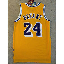 Kobe Bryant Lakers Jersey Yellow Swingman Throwback Retro 24