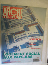 Le Moniteur Architecture AMC numéro 16 (Logement social aux Pays-Bas,Blois,