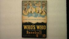 Baseball Who's Who In The Major Leagues 16th Edition 1948 Statistics & Photos