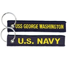 US NAVY   USS GEORGE WASHINGTON Embroidered Key Chain 5 inches long