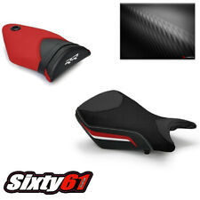 BMW S1000RR Seat Covers 2012 2013 2014 Technik Black Red Front Rear Luimoto