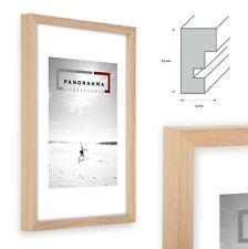Bilderrahmen Eiche Natur Vollholz mit Normalglas Posterrahmen DIN Formate