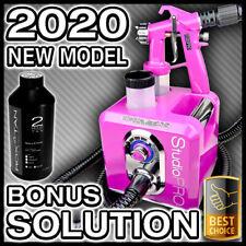 PINK SPRAY TANNING MACHINE KIT - HVLP SUNLESS TAN GUN UNIT - BONUS SOLUTION NEW