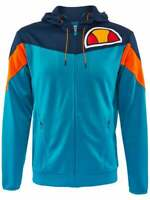 Ellesse Mens Track Top Jacket Hooded Carvereno Logo Blue RRP £65
