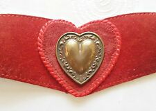 VINTAGE CREATION WERNER VELVET LEATHER DIRNDL OKTOBERFEST HEART WOMEN'S BELT