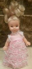 "Vintage plastic 7"" doll marked made in Hong Kong unbranded"