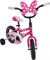 Bike For Girls 12 Bicycle Minnie Mouse Huffy Training Wheels Doll Carrier Pink