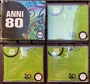 COFANETTO 3 CD MUSICALI ANNI 80 MUSICA ITALIANA RACCOLTA POP COLUMBIA SONY 2008
