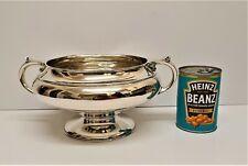 large heavy Antique solid silver fruit bowl c1924 Josiah Williams & Co 970 grams